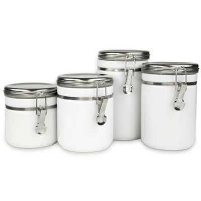 oggi kitchen canisters buy oggi airtight stainless steel canisters with acrylic 14410