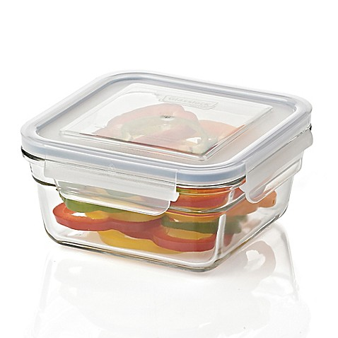 Buy Glasslock 30 oz. Food Storage Container in Blue from Bed Bath & Beyond
