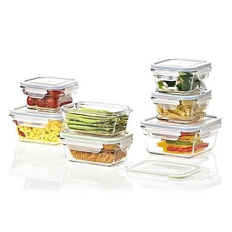 Glasslock 14 Piece Food Storage Set In Green/Blue