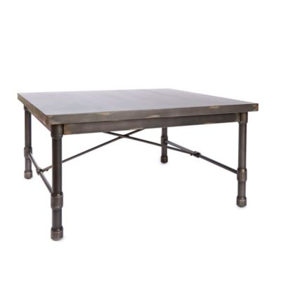 Silverwod Oxford Industrial Collection Square Coffee Table In Metallic