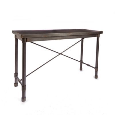 Silverwod Oxford Industrial Collection Console Table In Metallic