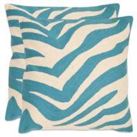 Safavieh Urban Spice 22-Inch Square Throw Pillows in Blue Rain (Set of 2)