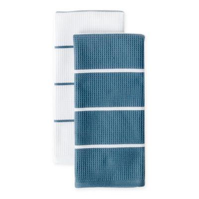 Noritake Colorwave Dual Purpose Kitchen Towels In Blue Set Of 2
