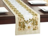 White Poinsettia 72-Inch Table Runner