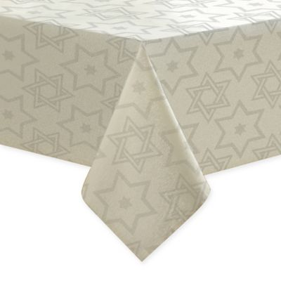 Metallic Hanukkah 70 Inch X 90 Inch Oblong Tablecloth