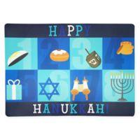 "Happy Hanukkah Blocks 13""x18"" Placemat"