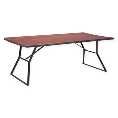 Zuo Omaha Dining Table In Cherry Oak