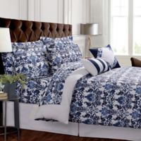 Tribeca Living Catalina Reversible King Duvet Cover Set in Blue