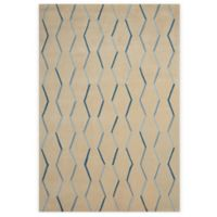 Nourison Contour Lines 3-Foot 6-Inch x 5-Foot 6-Inch Area Rug in Ivory