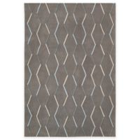 Nourison Contour Lines 7-Foot 3-Inch x 9-Foot 3-Inch Area Rug in Charcoal