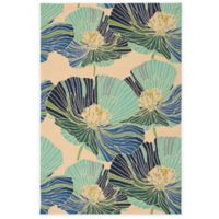 Nourison Fantasy Poppy 5-Foot x 7-Foot 6-Inch Area Rug in Ivory