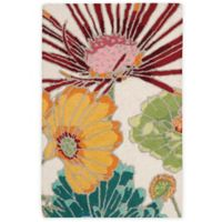 Nourison Fantasy Flower 1-Foot 9-Inch x 2-Foot 9-Inch Accent Rug in Ivory
