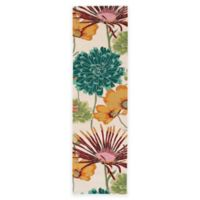 Nourison Fantasy Flower 2-Foot 3-Inch x 8-Foot Runner in Ivory