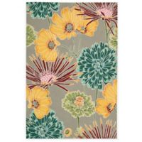 Nourison Fantasy Flower 3-Foot 6-Inch x 5-Foot 6-Inch Area Rug in Grey