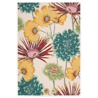 Nourison Fantasy Flower 3-Foot 6-Inch x 5-Foot 6-Inch Area Rug in Ivory