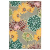 Nourison Fantasy Flower 5-Foot x 7-Foot 6-Inch Area Rug in Grey
