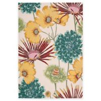 Nourison Fantasy Flower 5-Foot x 7-Foot 6-Inch Area Rug in Ivory