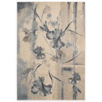 """Nourison Somerset 3'6"""" x 5'6"""" Machine Woven Area Rug in Ivory Blue"""