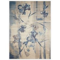 Nourison Somerset ST18 7-Foot 9-Inch x 10-Foot 10-Inch Area Rug in Ivory and Blue