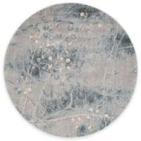 Nourison Somerset ST74 5-Foot 6-Inch Square Area Rug in Silver and Blue