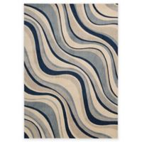Nourison Somerset ST81 7-Foot 9-Inch x 10-Foot 10-Inch Area Rug in Ivory and Blue