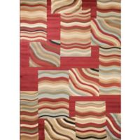 Concord Global Soho Waves 5-Foot 3-Inch x 7-Foot 3-Inch Multicolor Area Rug
