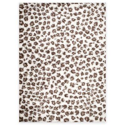 shaggy leopard 5foot x 7foot area rug - Shaggy Rug
