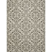 New Casa Medallions 2-Foot 7-Inch x 4-Foot 1-Inch Area Rug in Ivory/Grey