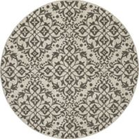 New Casa Medallions 5-Foot 3-Inch Round Area Rug in Ivory/Grey