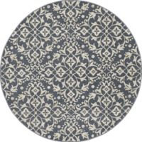 New Casa Medallions 5-Foot 3-Inch Round Area Rug in Blue