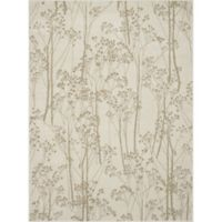 Concord Global Casa Trees 2-Foot 7-Inch x 4-Foot 1-Inch Indoor Accent Rug in Ivory