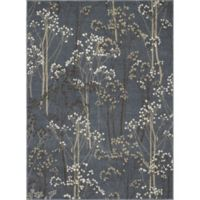 Concord Global Casa Trees 3-Foot 3-Inch x 4-Foot 7-Inch Indoor Accent Rug in Blue