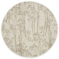 Concord Global Casa Trees 5-Foot 3-Inch Round Indoor Area Rug in Ivory