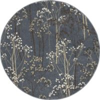 Concord Global Casa Trees 5-Foot 3-Inch Round Indoor Area Rug in Blue