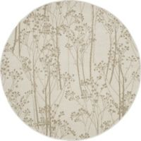 Concord Global Casa Trees 7-Foot 10-Inch Round Indoor Area Rug in Ivory