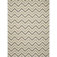 New Casa Chevron 6-Foot 7-Inch x 9-Foot 6-Inch Area Rug in Ivory
