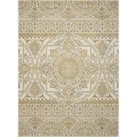 New Casa Aubosson 3-Foot 3-Inch x 4-Foot 7-Inch Accent Rug in Yellow
