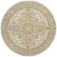New Casa Aubosson 5-Foot 3-Inch Round Area Rug in Yellow
