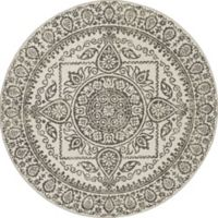 New Casa Aubosson 5-Foot 3-Inch Round Area Rug in Grey