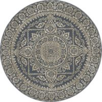 New Casa Aubosson 5-Foot 3-Inch Round Area Rug in Blue