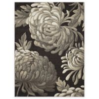 New Casa Flowers 5-Foot 3-Inch x 7-Foot 3-Inch Area Rug in Brown