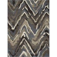 New Casa Waves Area 3-Foot 3-Inch x 4-Foot 7-Inch Area Rug in Blue/Brown