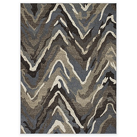 New Casa Waves Area Rug In Blue Brown Bed Bath Amp Beyond