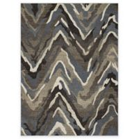 New Casa Waves Area 5-Foot 3-Inch x 4-Foot 7-Inch Area Rug in Blue/Brown