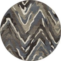 New Casa Waves Area 7-Foot 10-Inch Round Area Rug in Blue/Brown