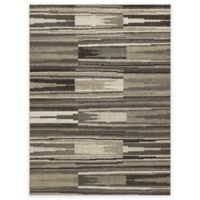 New Casa Patch Stripes 5-Foot 3-Inch x 7-Foot 3-Inch Area Rug in Grey