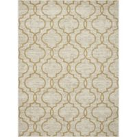 New Casa Quatrefoil 3-Foot 3-Inch x 4-Foot 7-Inch Accent Rug in Yellow