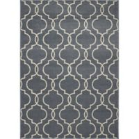 New Casa Quatrefoil 6-Foot 7-Inch x 9-Foot 6-Inch Area Rug in Blue