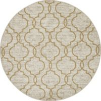 New Casa Quatrefoil 7-Foot 10-Inch Round Area Rug in Yellow