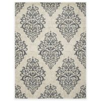 New Casa Damask 5-Foot 3-Inch x 7-Foot 3-Inch Area Rug in Ivory/Blue